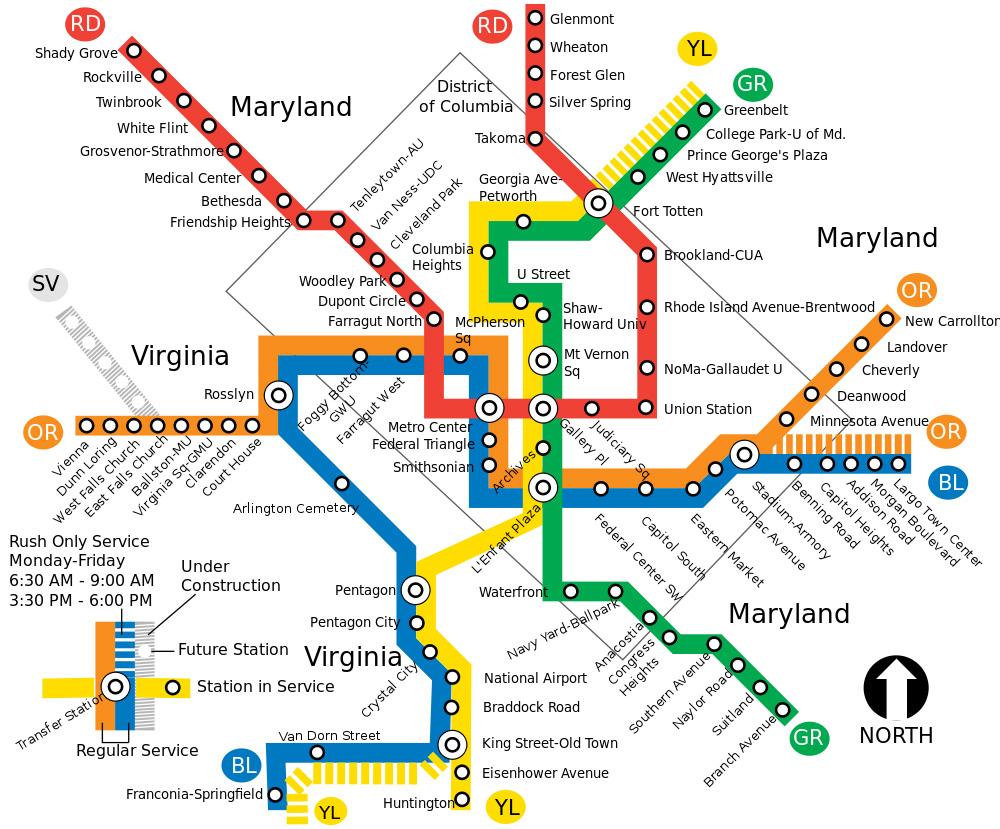 Washingtonin Metro Vuosia Maailmalla