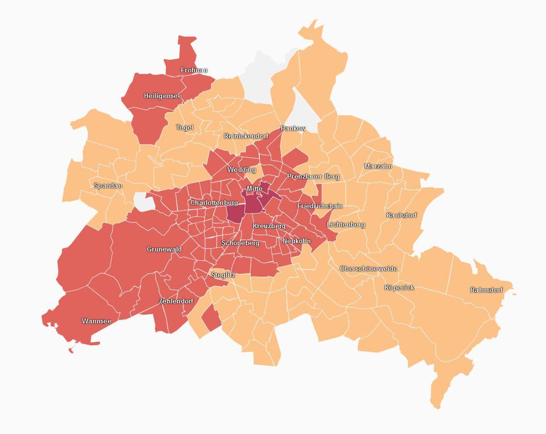 Kartta Berliinin Vuokramarkkinoista Vuosia Maailmalla