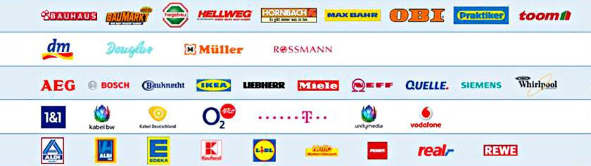 Opas Saksan kauppaketjuista