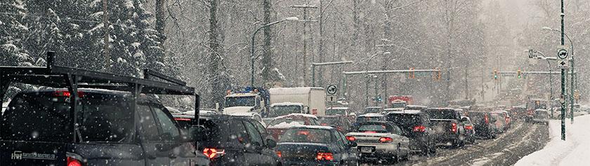 Lumikaaos yllätti Vancouverin