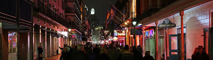 Mahtavan Mississippin päätepiste New Orleans