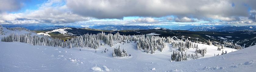 Lunta etsimässä Sun Peaksilla