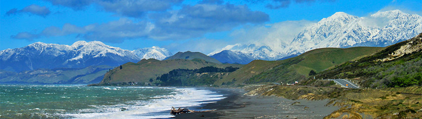 Uuden-Seelannin kaksi rannikkoa